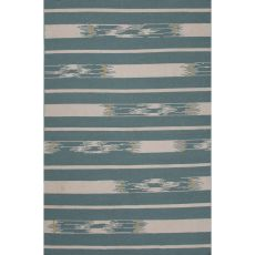 Flatweave Tribal Pattern Blue/Ivory Wool Area Rug (8X11)