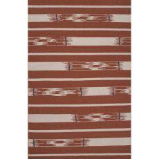 Flatweave Tribal Pattern Red/Ivory Wool Area Rug (8X11)