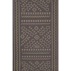 Flatweave Tribal Pattern Gray Wool Area Rug (8X11)