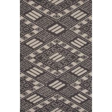 Contemporary Tribal Pattern Black Wool Area Rug (8X11)