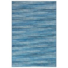 "Liora Manne Marina Stripes Indoor/Outdoor Rug China Blue 23""X7'6"""