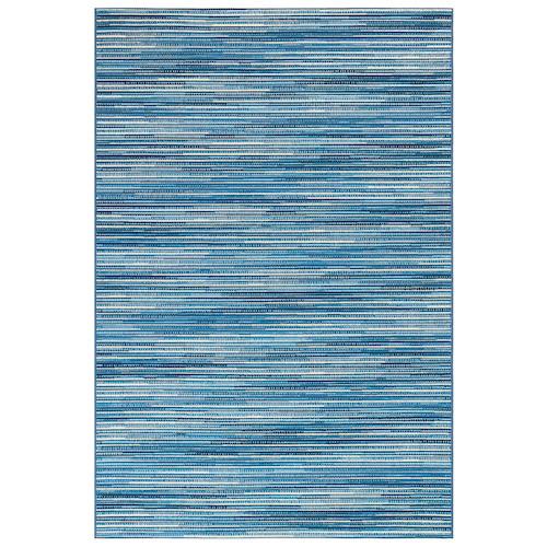 "Liora Manne Marina Stripes Indoor/Outdoor Rug China Blue 6'6""X9'4"""