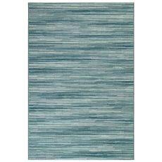 "Liora Manne Marina Stripes Indoor/Outdoor Rug Aqua 23""X7'6"""