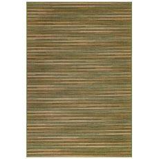 "Liora Manne Marina Stripes Indoor/Outdoor Rug Green 23""X7'6"""
