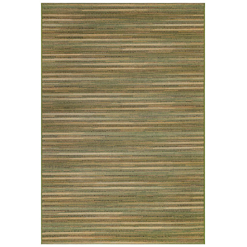 "Liora Manne Marina Stripes Indoor/Outdoor Rug Green 6'6""X9'4"""