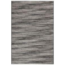 "Liora Manne Marina Stripes Indoor/Outdoor Rug Grey 23""X7'6"""