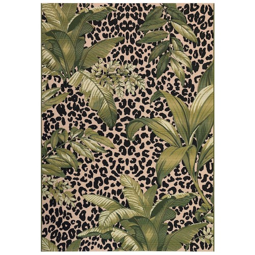 "Liora Manne Marina Safari Indoor/Outdoor Rug Green 6'6""X9'4"""
