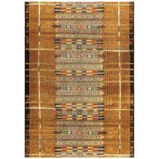 "Liora Manne Marina Tribal Stripe Indoor/Outdoor Rug Gold 23""X7'6"""