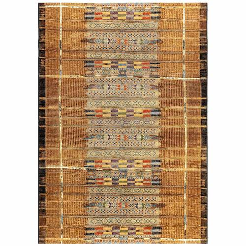 "Liora Manne Marina Tribal Stripe Indoor/Outdoor Rug Gold 6'6""X9'4"""