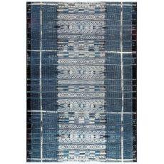 """Liora Manne Marina Tribal Stripe Indoor/Outdoor Rug Denim 39""""X59"""""""
