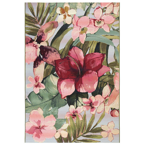 "Liora Manne Marina Tropical Floral Indoor/Outdoor Rug Multi 6'6""X9'4"""