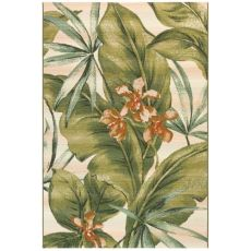 "Liora Manne Marina Tropical Leaf Indoor/Outdoor Rug Cream 23""X7'6"""