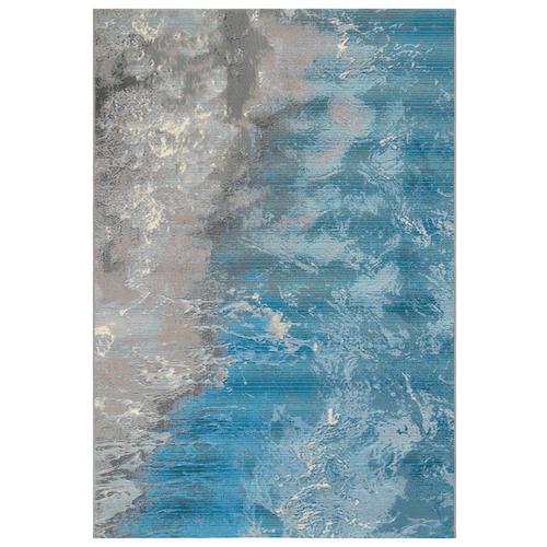 """Liora Manne Marina Surf Indoor/Outdoor Rug Ocean 23""""X7'6"""""""