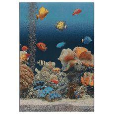 """Liora Manne Marina Aquarium Indoor/Outdoor Rug Ocean 23""""x7'6"""""""