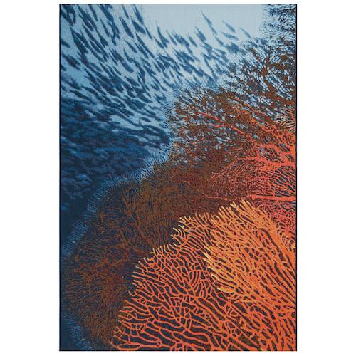 """Liora Manne Marina Coral Indoor/Outdoor Rug Ocean 4'10""""X7'6"""""""