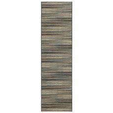 "Liora Manne Marina Stripes Indoor/Outdoor Rug Blue/Multi 23""X7'6"""