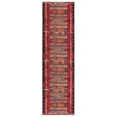 "Liora Manne Marina Tribal Stripe Indoor/Outdoor Rug Red 23""X7'6"""