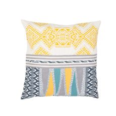 """Modern/Contemporary Pattern Yellow/Taupe Cotton Down Fill Pillow ( 22""""X22"""")"""