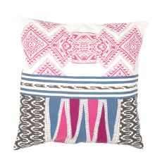 """Modern/Contemporary Pattern Pink/Multi Cotton Down Fill Pillow ( 22""""X22"""")"""