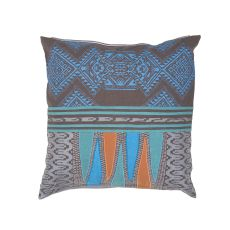 "Modern/Contemporary Pattern Blue/Multi Cotton Down Fill Pillow ( 22""X22"")"