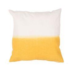 "Modern/Contemporary Pattern Yellow/Gold Cotton Down Fill Pillow ( 20""X20"")"