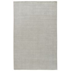 Solids & Heather Pattern White/Gray Wool And Viscose Area Rug ( 9X13)