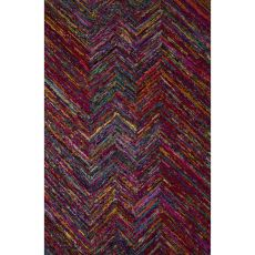 Contemporary Abstract Pattern Multi Chindi Fabric Area Rug (8X10)