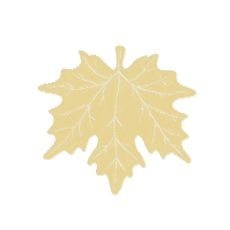 Maple Leaf 14X15 Placemat, Goldenrod