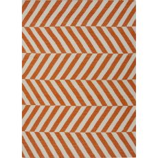 Chevrons Pattern Wool Maroc Area Rug