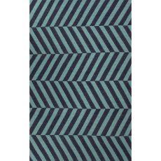 Flatweave Geometric Pattern Blue  Wool Area Rug (8X10)