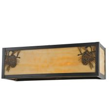 "16"" W Winter Pine Wall Sconce"
