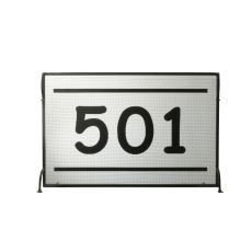 "44.5"" W X 29"" H Personalized 501 Fireplace Screen"