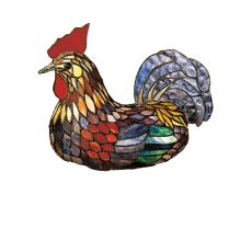 """14"""" H Tiffany Rooster Accent Lamp"""