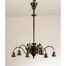 "27"" W Early Electric 6 Arm Chandelier Hardware"