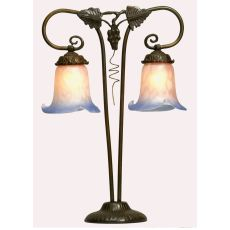 "20"" H Twin Grapevine Pink And Blue 2 Lt Table Lamp"
