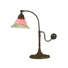 """19"""" H Counter Balance Pink And Green Accent Lamp"""