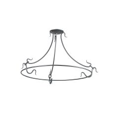 """30"""" Wrought Iron Suspension Ring/W Arms"""