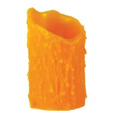 "3"" W X 5"" H Poly Resin Honey Amber Uneven Top Candle Cover"
