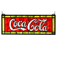 "28"" W X 10"" H Coca-Cola Stained Glass Window"