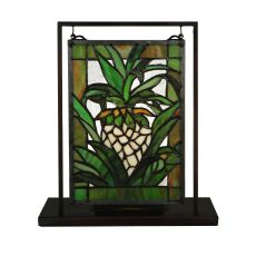 """6"""" W X 9"""" H Welcome Pineapple Lighted Mini Tabletop Window"""