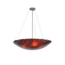 "30"" W Torta Fused Glass Inverted Pendant"