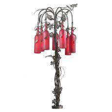 "47"" H Tuscan Vineyard Red 7 Lt Wine Bottle Table Lamp"
