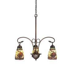 "23"" W Pinecone Dome 3 Lt Chandelier"