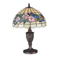 """18"""" H Tiffany Pansy Accent Lamp"""