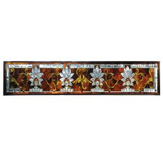 "72"" W X 15"" H Beveled Ellsinore Transom Stained Glass Window"