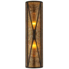 """8"""" W Amber Mica Diamond Mission Wall Sconce"""