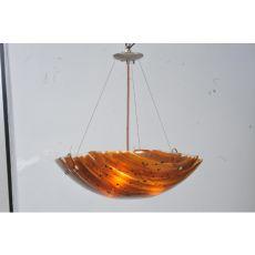 "24"" W Torta Fused Glass Inverted Pendant"