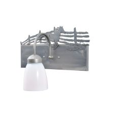 "13"" W Running Horse Right Vanity Light"