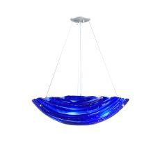 "24"" W Metro Fusion Azul Inverted Pendant"