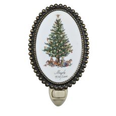 "3.5"" W Christmas Christmas Tree Fused Oval Night Light"